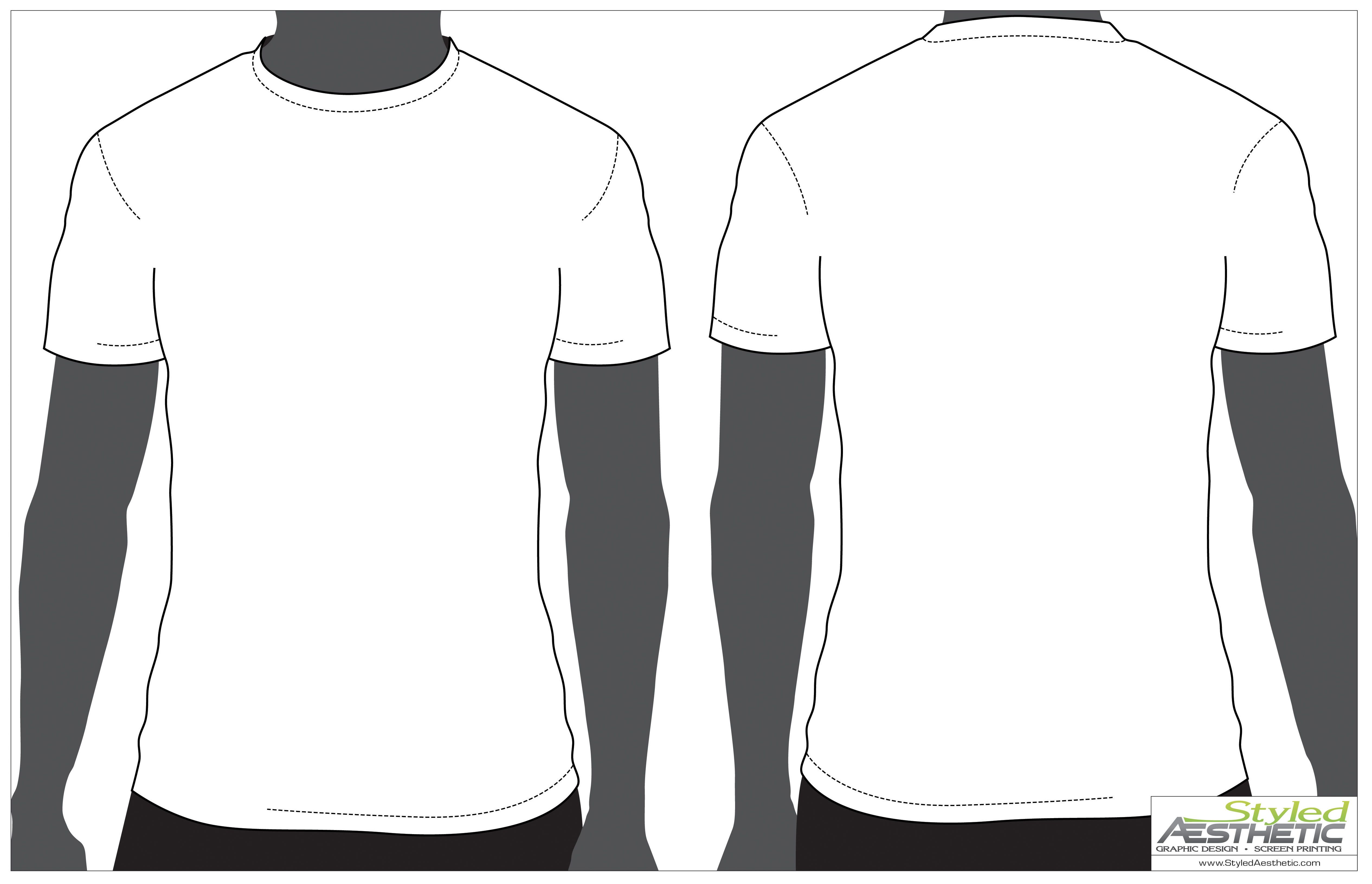 T Shirt Drawing Template Free Download Best T Shirt Drawing