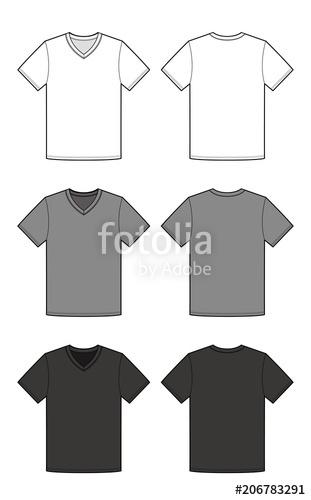 311x500 T Shirt Top Tee Fashion Flat Technical Drawing Template Stock