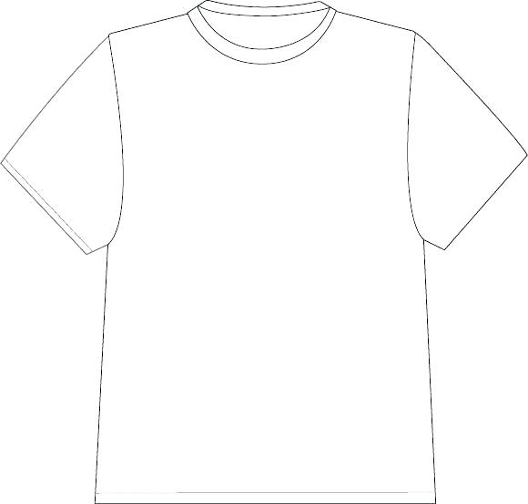 580x554 Real T Shirt Template