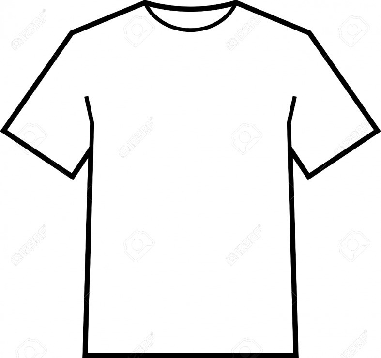 787x740 Blank T Shirt Outline Template Drawing At Getdrawings Com Free