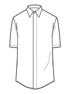 T Shirt Flat Drawing
