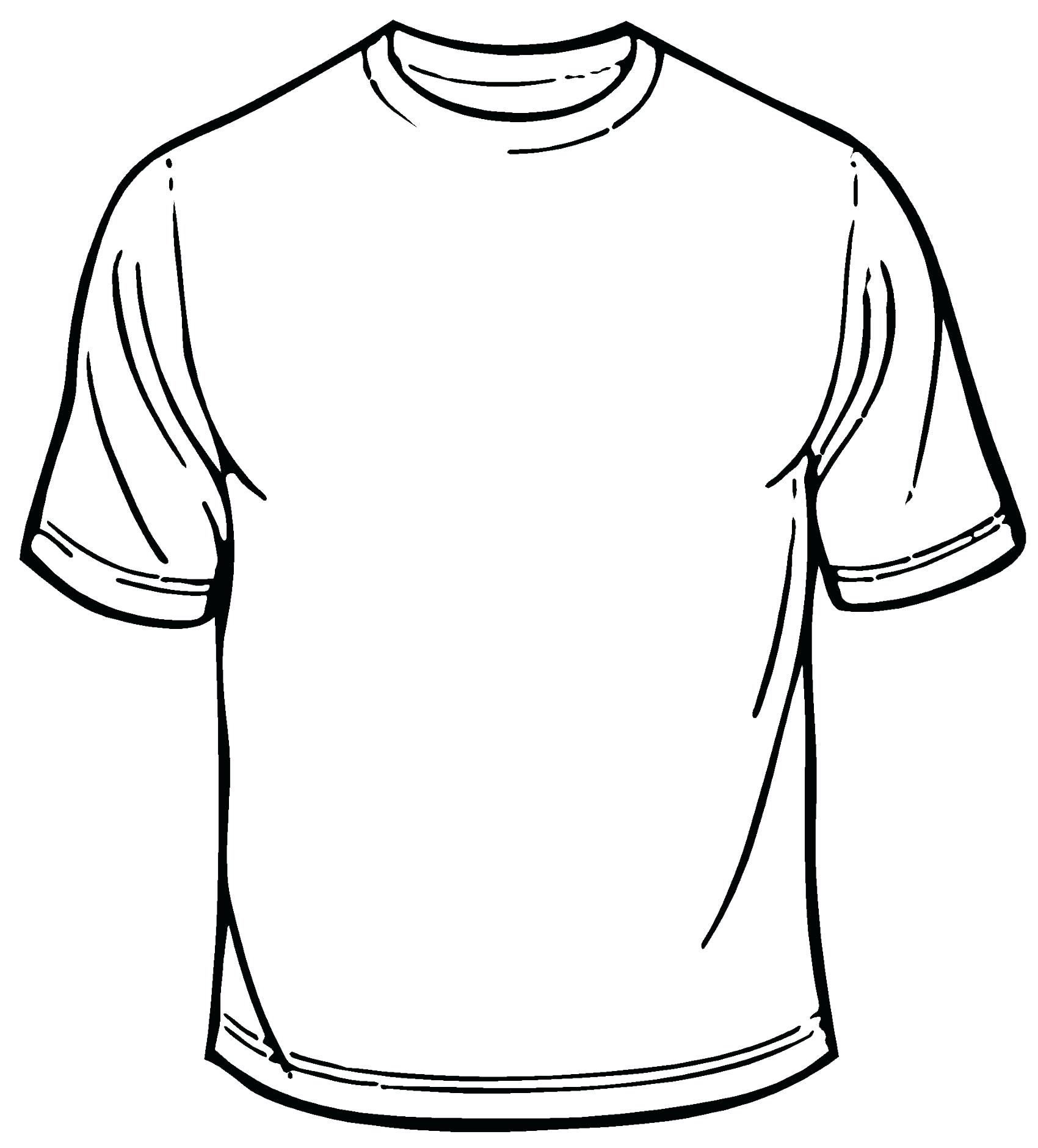 T Shirt Outline Drawing