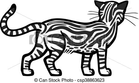 450x269 Marbled Tabby Cat Illustration Of A Tabby Cat Standing, Back