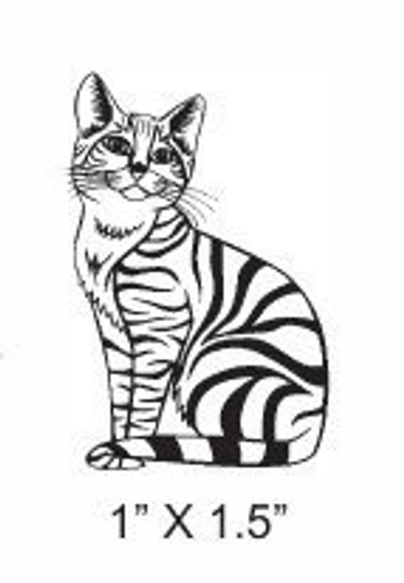 570x821 Tabby Cat Rubber Stamp Products St Cats, Simply Stamps