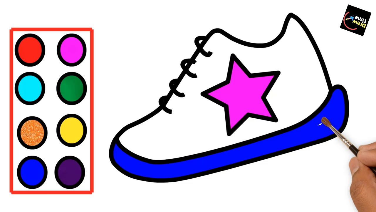 1280x720 How To Draw Children's Shoes Easy Step