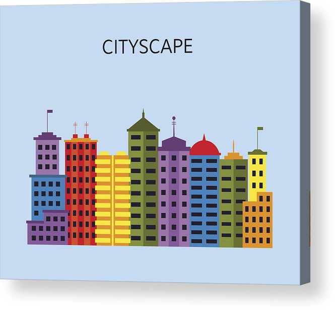 665x615 Cityscape With Skyscrapers View Of Modern City With Tall