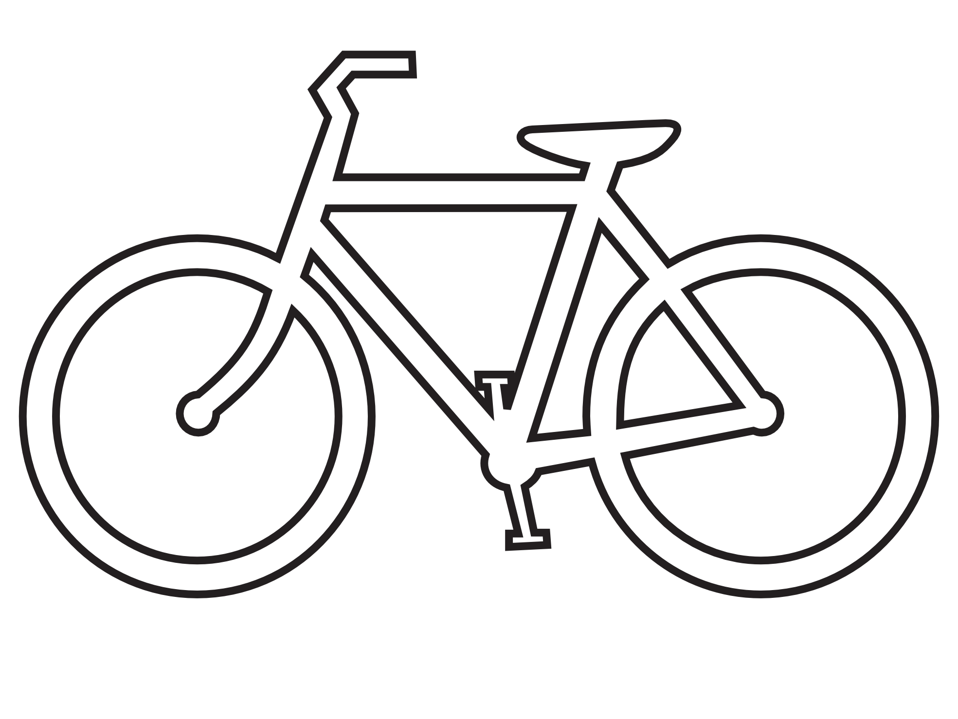 Tandem Bike Drawing