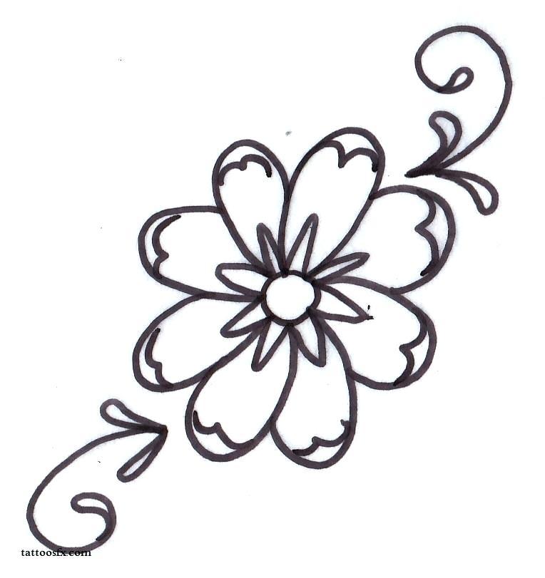 764x811 Luxury Flower Pattern Drawing Or Tattoo Clipart Flower Pattern
