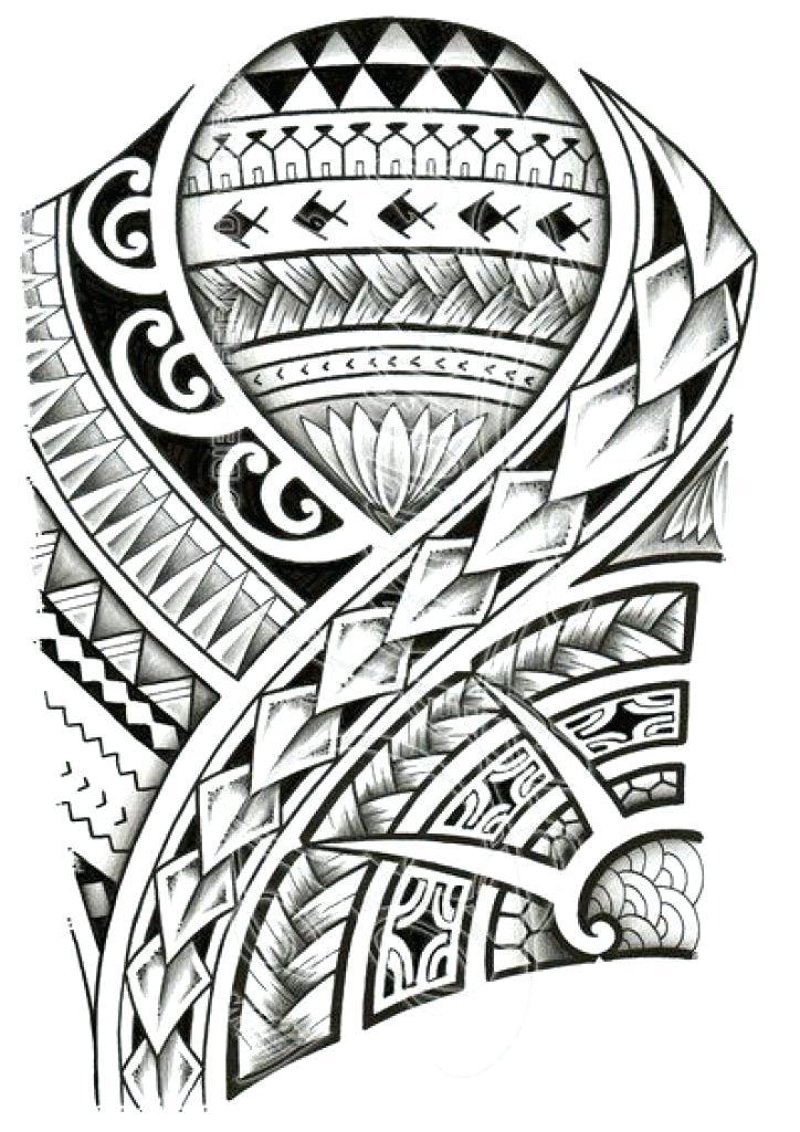 724x1024 Tattoo Drawings Tribal Hawaiian Templates Hawaii Designs