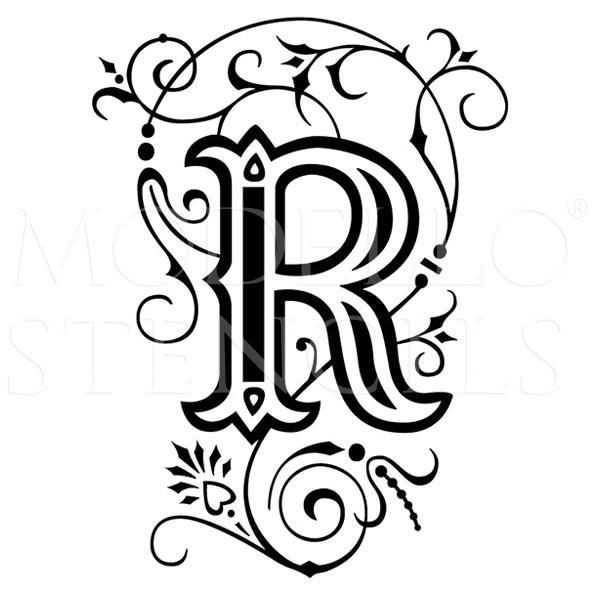 600x599 Letter R Tattoo Designs, Ideas And Templates