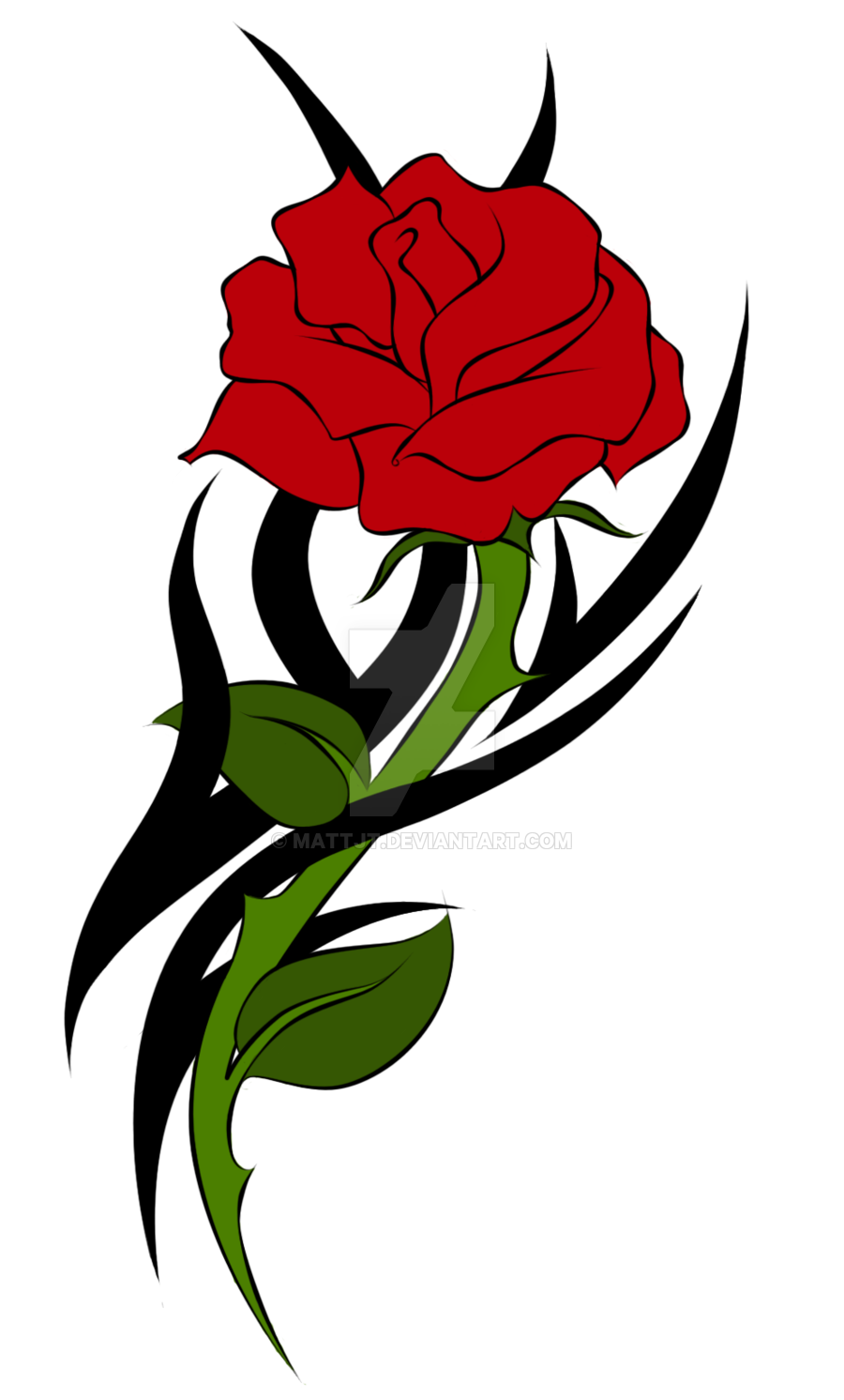 900x1492 Tattoo, Drawing, Rose, Transparent Png Image Clipart Free Download