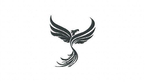 500x282 Black Phoenix Embroidery Design Machine Embroidery Free