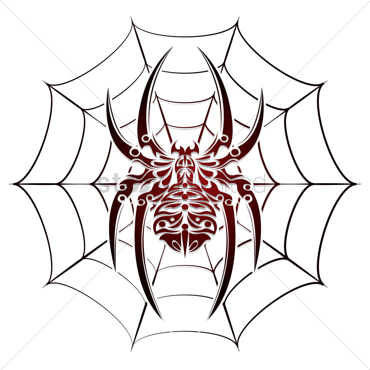 1300x1300 Free Spider And Web Tattoo Vector Image
