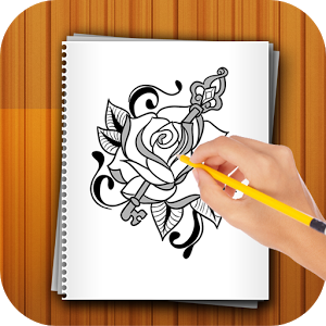 300x300 Learn To Draw Flower Tattoo For Android
