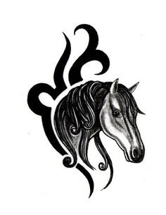 236x305 Best Tribal Horse Tattoo Stencils Images Horse Tattoos
