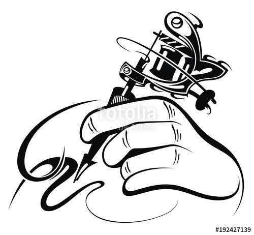 500x462 Tattoo Artist Tattoo Machine Stock Image And Royalty Free Vector