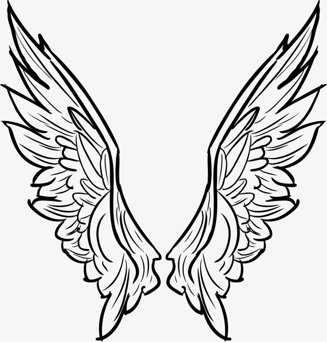 650x681 Vector Line Drawing Wings Tattoo Collapse, Vector, Line, Tattoo