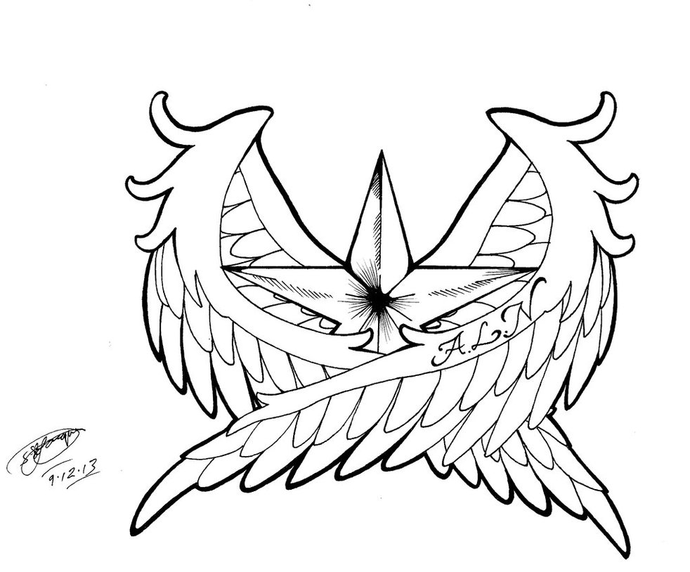 982x814 Lineart Tattoo Outline For Free Download