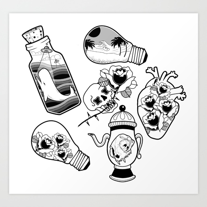 Tattoo Flash Drawings Free Download Best Tattoo Flash