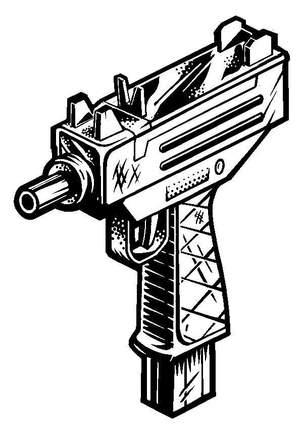 Tattoo Gun Drawing