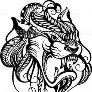 300x300 Stock Vector Tattoo Tribal Dragon Tribal Tattoos Art Tribal Tattoo