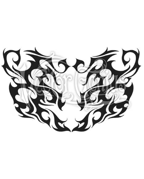 468x580 Tribal Back Tattoo Clip Art
