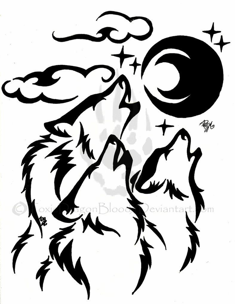 787x1015 Black Wolfwolves Hear Tribal Tattoo For Tribal