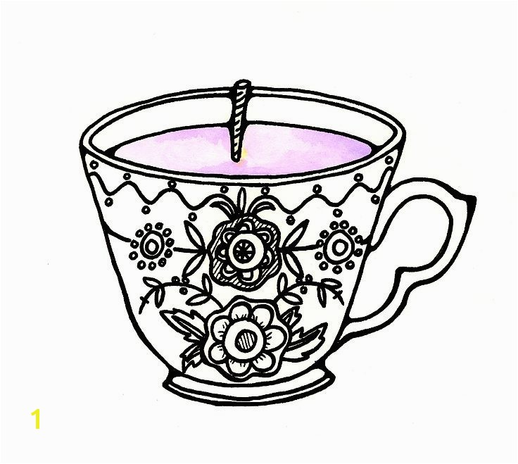 736x659 free printable tea cup coloring pages tea cup coloring