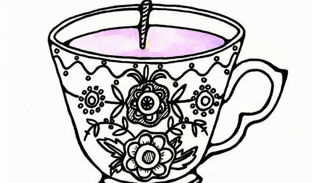 1024x600 free printable tea cup coloring pages tea cup coloring
