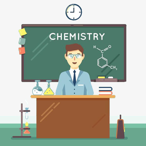 600x600 a chemistry teacher, chemistry clipart, cartoon hand drawing