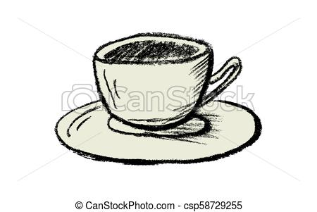 450x301 vector hand drawn cup of tea or coffee hand drawn cup of tea
