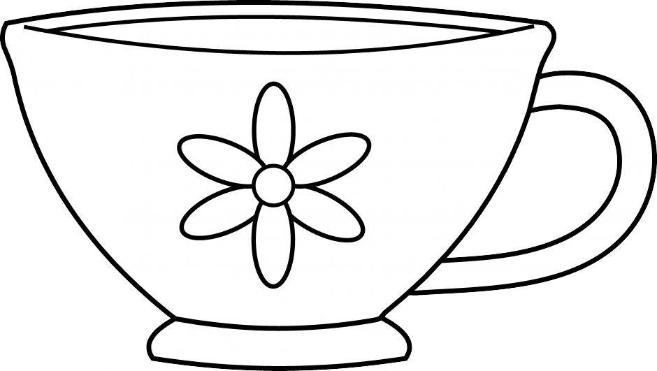 graphic about Chip Teacup Printable titled Teacup Line Drawing Free of charge obtain easiest Teacup Line Drawing