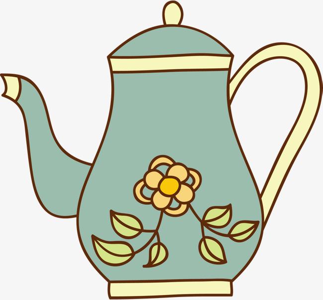 650x602 vector hand painted teapot, teapot, vector diagram, hand drawing