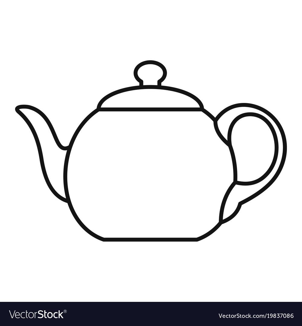 1000x1080 teapot outline big teapot icon outline style vector