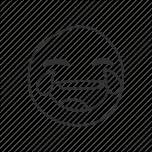 512x512 emoji, emoticon, joy, laughing with teary eyes, tears, tears