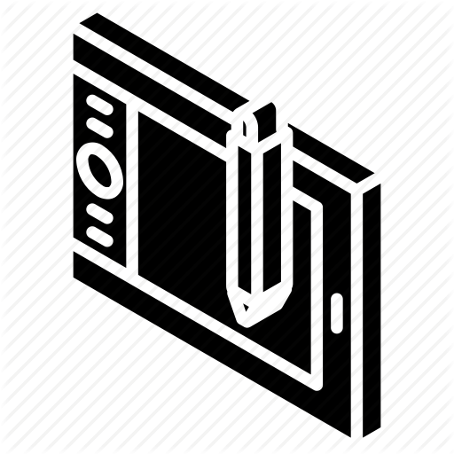 512x512 drawing, iso, isometric, tablet, tech, technology icon
