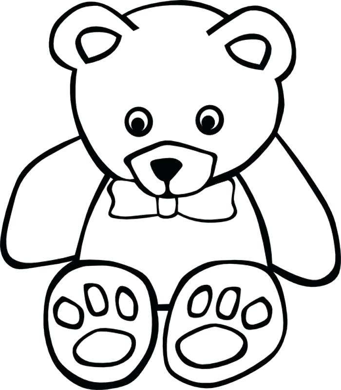 700x801 teddy bear outline teddy bears to draw panda teddy bear outline