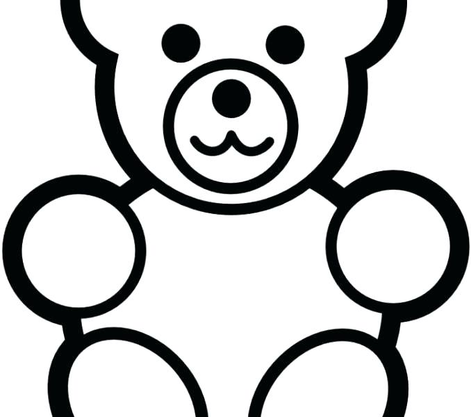 678x600 simple drawing of a bear bear simple teddy bear simple black white