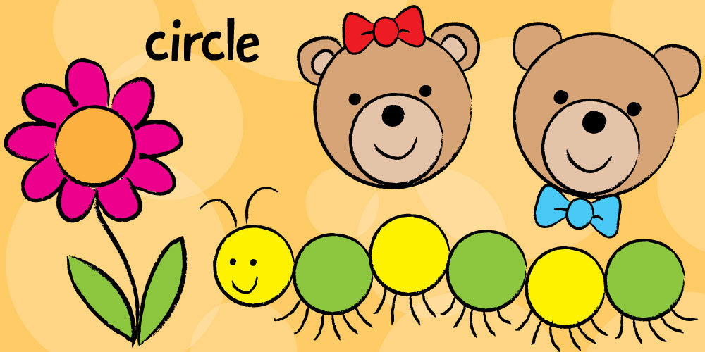 1000x500 Draw Easy Teddy Bears Caterpillars With Circles!