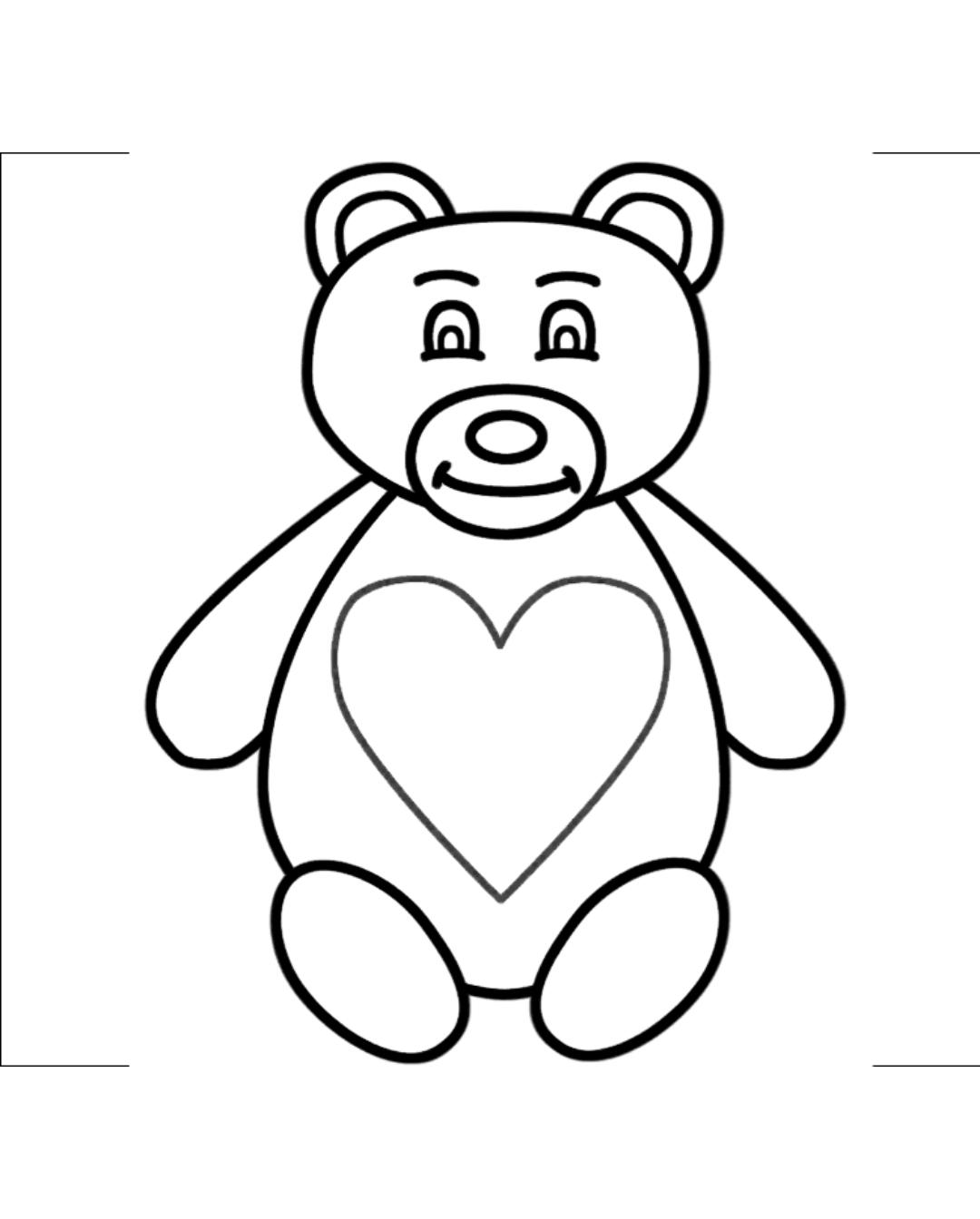 Teddy Bear Drawing For Kid