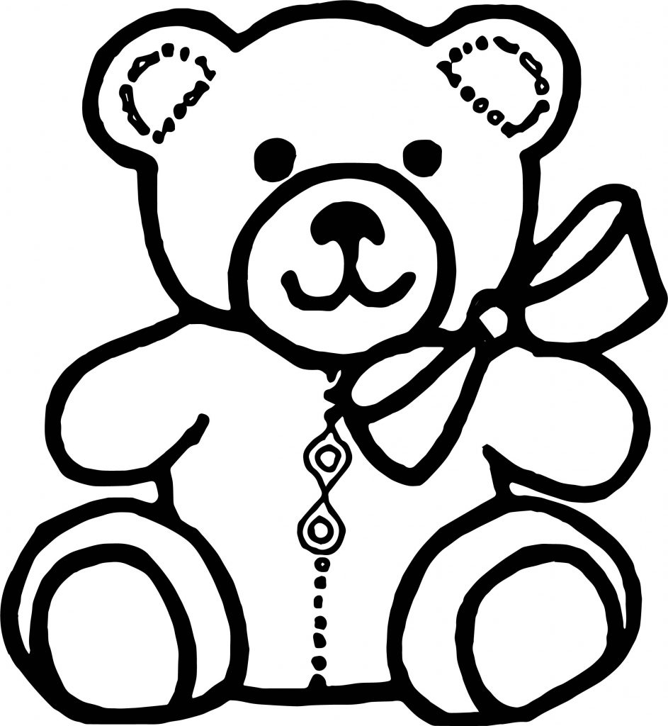 Teddy Bear Drawing Outline