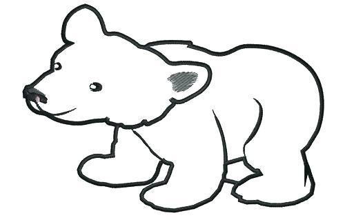 500x319 bear outline polar bear outline drawing how to draw a bear outline