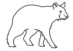 300x210 black bear drawing outline american black bear teddy bear drawing