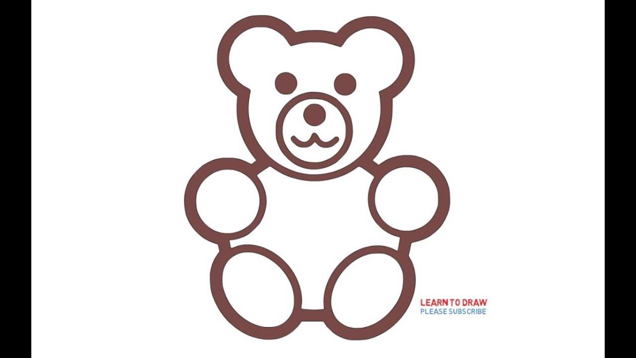 1280x720 How To Draw Stuffed Bear Step
