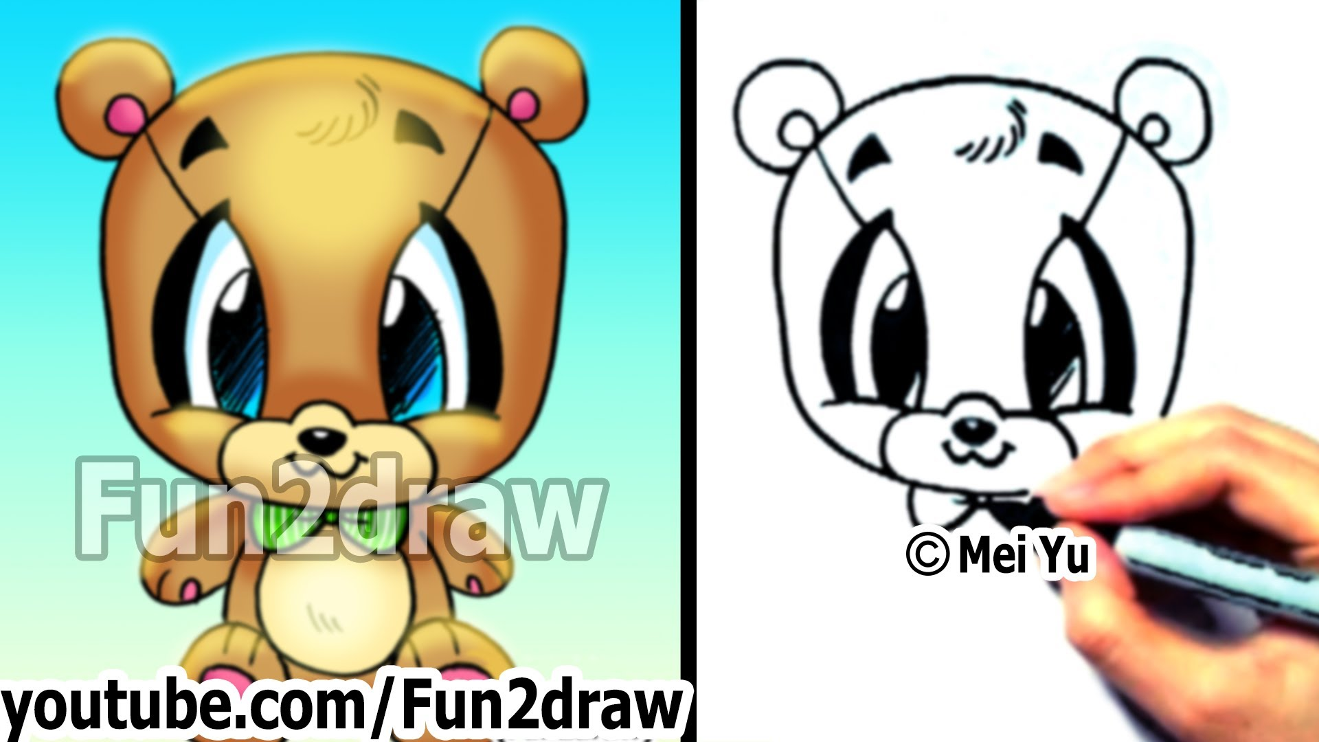 1920x1080 How To Draw Easy How To Draw A Teddy Bear Cute Drawings Cute