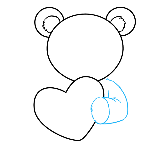 680x678 How To Draw A Teddy Bear With A Heart
