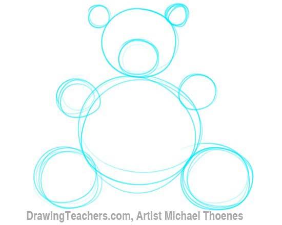 550x440 How To Draw A Teddy Bear
