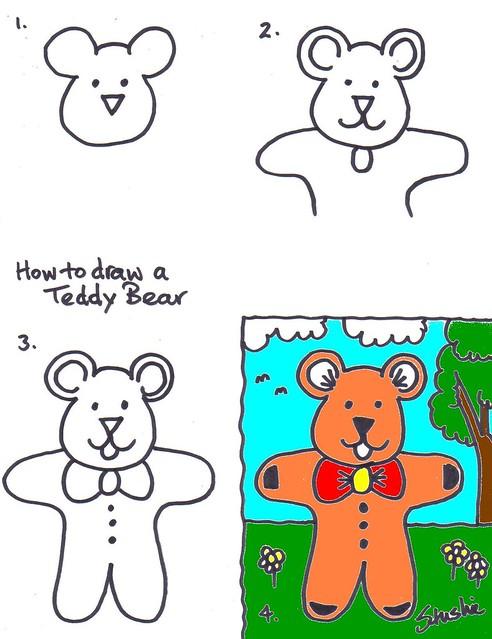 492x639 How To Draw Teddy Bear Kids