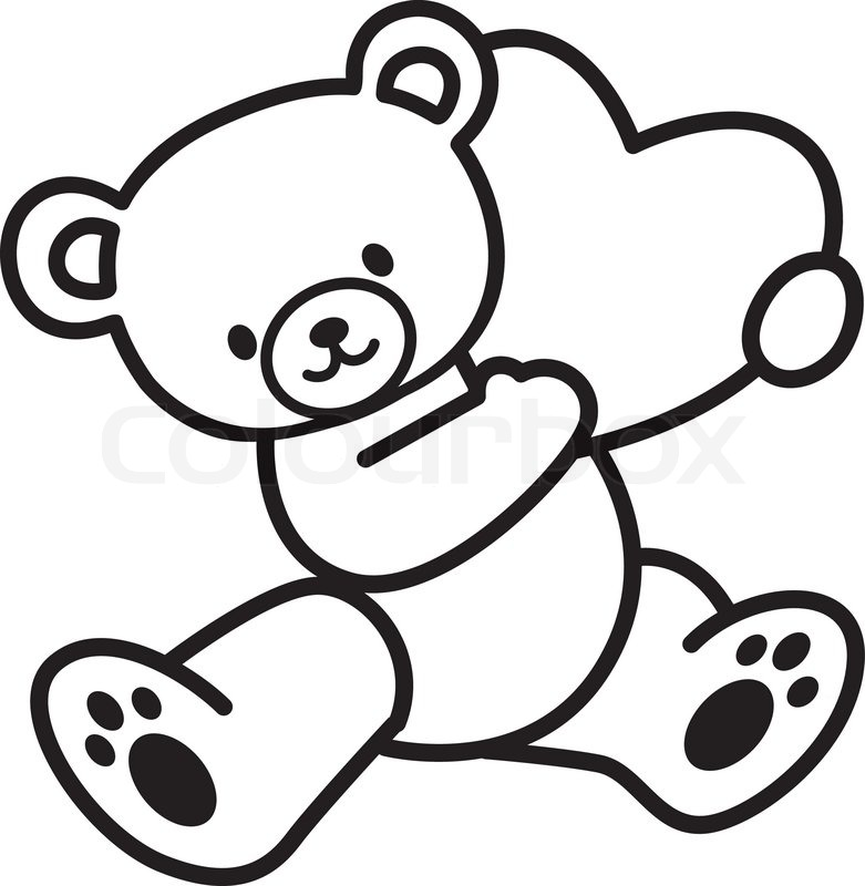 781x800 Huge Collection Of 'love Teddy Bear Drawing' Download More Than