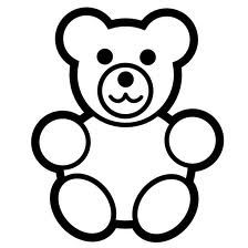 224x224 Simple Teddy Bears To Colour, Stitch, Collage Or Draw